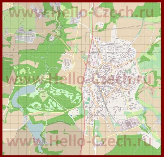 Подробная карта города Бенешов