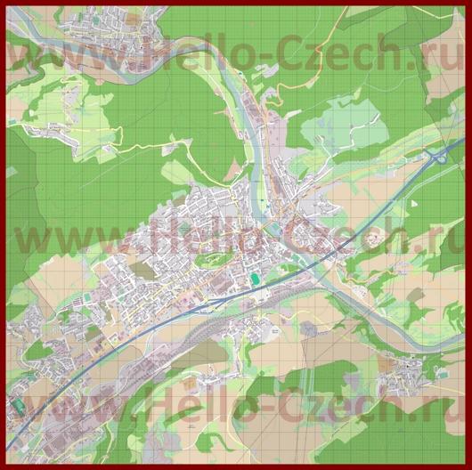 Подробная карта города Бероун