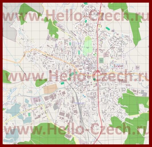 Подробная карта города Ческа-Липа