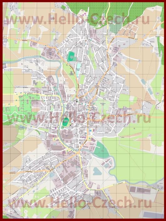 Подробная карта города Двур-Кралове