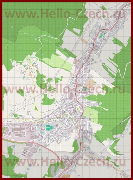 Подробная карта города Есеник
