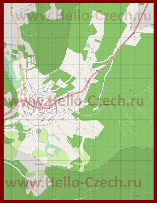 Подробная карта города Железна-Руда