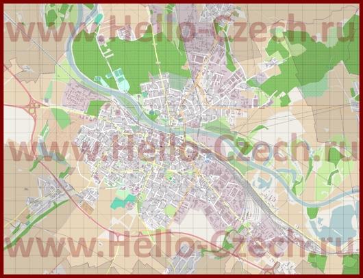 Подробная карта города Колин