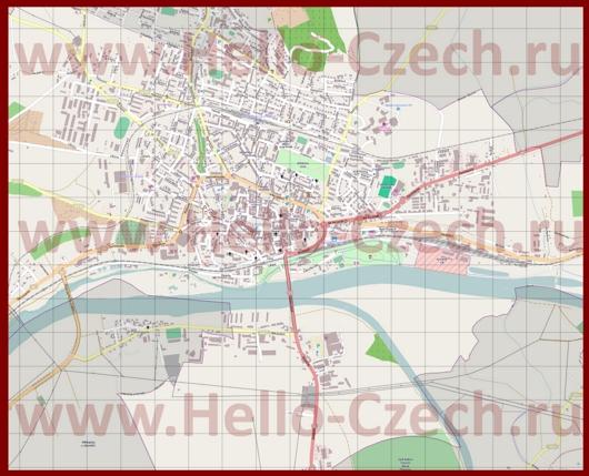 Подробная карта города Литомержице
