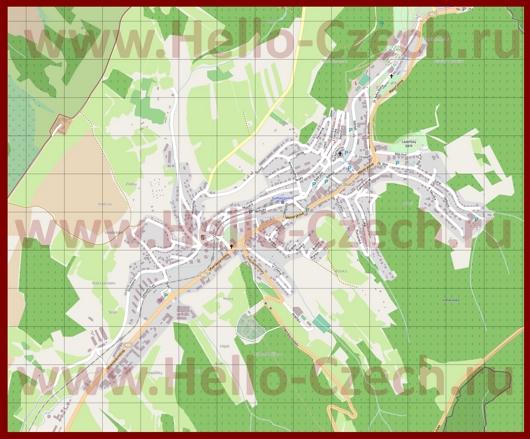 Подробная карта города Лугачовице