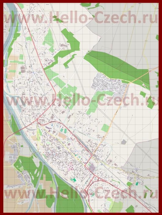 Подробная карта города Мельник