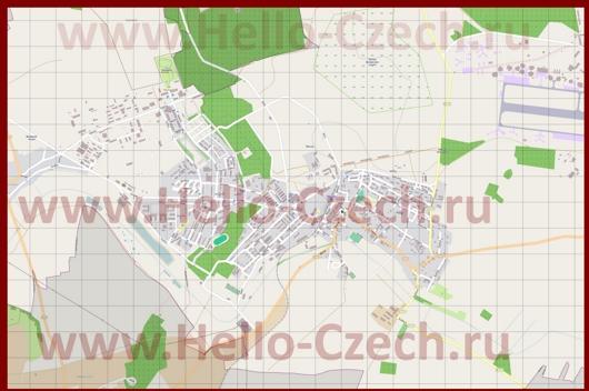 Подробная карта города Миловице