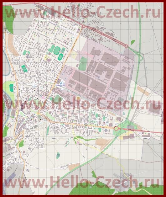 Подробная карта города Млада-Болеслав