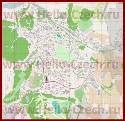 Подробная карта города Мост