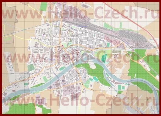 Подробная карта города Нимбурк