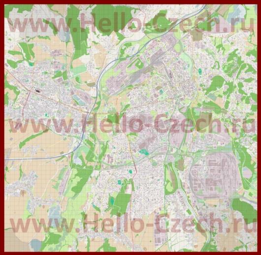 Подробная карта города Острава