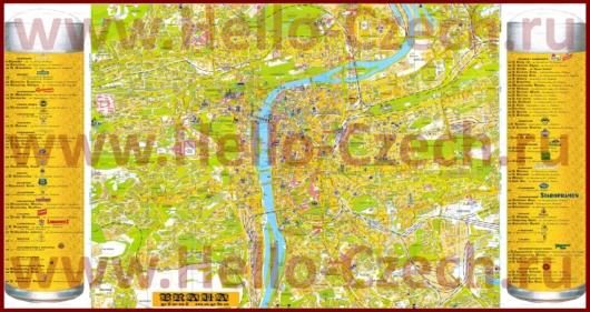 Пивная карта Праги