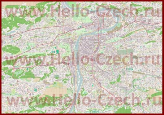 Подробная карта города Прага с улицами
