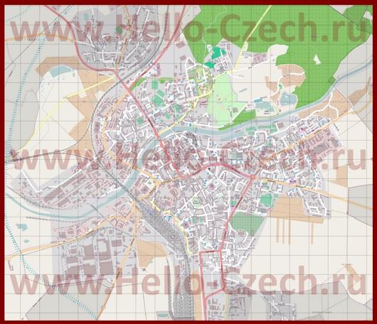 Подробная карта города Пршеров