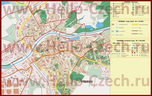 Туристическая карта Пршерова