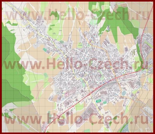 Подробная карта города Шумперк