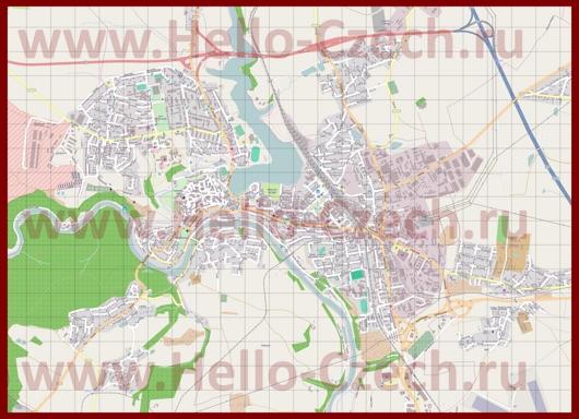 Подробная карта города Табор