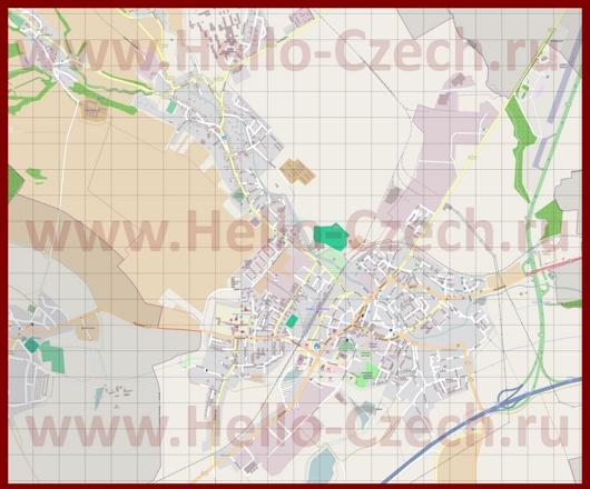 Подробная карта города Вишков