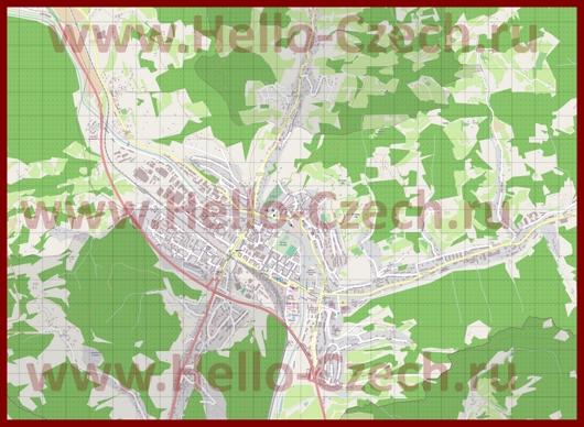 Подробная карта города Всетин