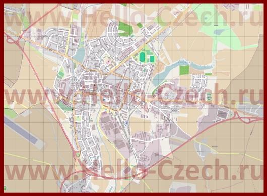 Подробная карта города Йичин